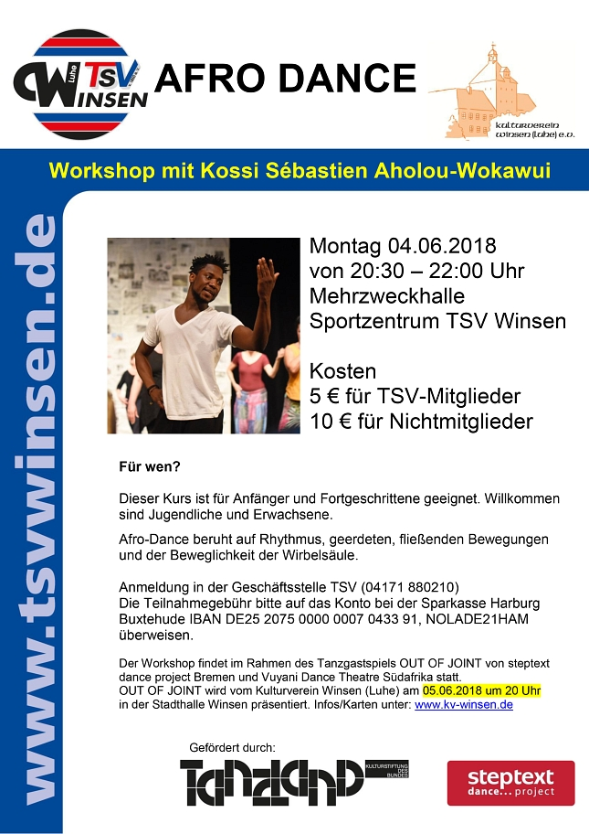 Workshop Afro dance © Stadt Winsen (Luhe)